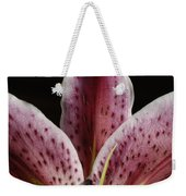A Stargazer Lily Lilium Orientalis Weekender Tote Bag