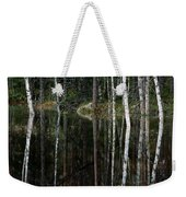 A Stream At High Water In A Woodland Weekender Tote Bag