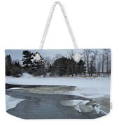 A Stream In Ice Weekender Tote Bag
