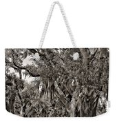 A Stroll Through Time Monochrome Weekender Tote Bag