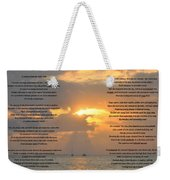 A Sunset A Poem - Victor Hugo Weekender Tote Bag