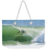 A Surfer Shoots The Curl Weekender Tote Bag