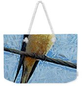 A Swallow On A Wire Weekender Tote Bag