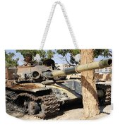 A T-72 Tank Destroyed By Nato Forces Weekender Tote Bag