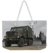 A Tactical Vehicle Is Off-loaded Weekender Tote Bag