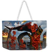 A Team Of Androids Break Down Objects Weekender Tote Bag by Mark Stevenson