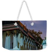 A Tempel In A Wat During A Full Moon Night  Weekender Tote Bag