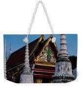 A Temple In A Wat Monestry In Tahiland Weekender Tote Bag