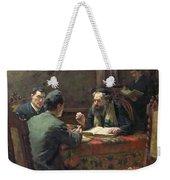 A Theological Debate Weekender Tote Bag