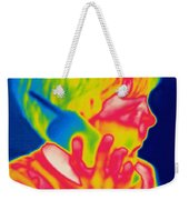 A Thermogram Of A Boy Talking Weekender Tote Bag