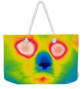 A Thermogram Of A Long Haired Cat Weekender Tote Bag