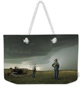 A Thunderstorm Halts Haying As Two Weekender Tote Bag