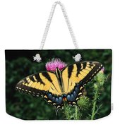 A Tiger Swallowtail Butterfly Feeds Weekender Tote Bag