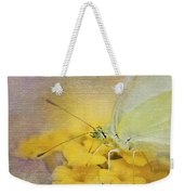 A Touch Of Yellow Weekender Tote Bag by Betty LaRue