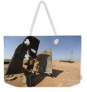 A Tracked Artillery Vehicle Destroyed Weekender Tote Bag