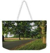 A Tree-lined Rural Virginia Road Weekender Tote Bag