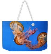 A Trio Of Jellyfish Weekender Tote Bag by Kristin Elmquist