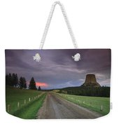 A Twilight View Down A Dirt Road Weekender Tote Bag