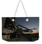 A Uh-60l Blackhawk Door Gunner Mans Weekender Tote Bag
