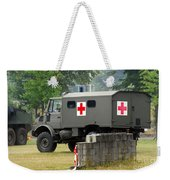 A Unimog In An Ambulance Version In Use Weekender Tote Bag