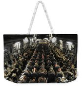 A Unit Of U.s. Army Soldiers In A C-17 Weekender Tote Bag