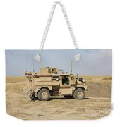 A U.s. Army Cougar Mrap Vehicle Weekender Tote Bag