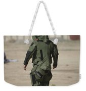 A U.s. Marine Tries Running In A Bomb Weekender Tote Bag