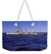 A U.s. Navy Deactivated Ship Sits Ready Weekender Tote Bag