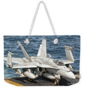 A Us Navy Fa-18c Hornet Tied Weekender Tote Bag by Giovanni Colla