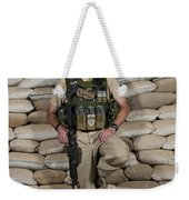 A U.s. Police Officer Contractor Leans Weekender Tote Bag