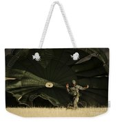 A U.s. Soldier Collapses His Parachute Weekender Tote Bag