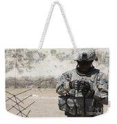 A U.s. Soldier Tests A Tactical Weekender Tote Bag