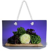 A Variety Of Lettuce Weekender Tote Bag by Photo Researchers, Inc.