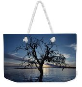 A View At Dawn Of A Silhouetted Tree Weekender Tote Bag