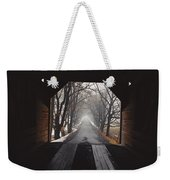 A View Down A Tree-lined Road Weekender Tote Bag