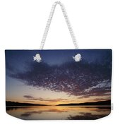 A View Of A Lake Right After The Sun Weekender Tote Bag