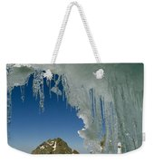 A View Of A Mountain Summit Weekender Tote Bag