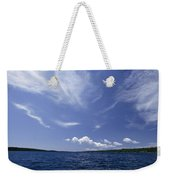 A View Of Lake Superior And Sky At Isle Weekender Tote Bag
