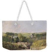 A View Of Osmington Village With The Church And Vicarage Weekender Tote Bag