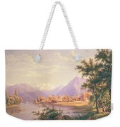 A View Of Scherzingen On The Lake Of Thun Weekender Tote Bag