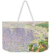 A View Of The Cliffs Of Etretat Weekender Tote Bag by Claude Emile Schuffenecker