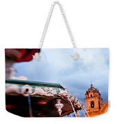 A View Of The Fountain In The Plaza De Weekender Tote Bag
