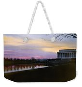A View Of The Lincoln Memorial Weekender Tote Bag