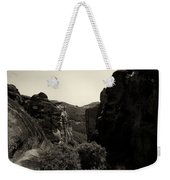 A View To The Monastery Of Roussanou Weekender Tote Bag