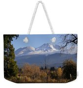 A View Toward Mt Shasta In Autumn Weekender Tote Bag