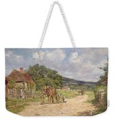 A Village Scene Weekender Tote Bag