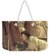A Visit To The Studio Weekender Tote Bag by Sir Lawrence Alma-Tadema