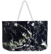 A Volcanic Plume From The Rabaul Weekender Tote Bag by Stocktrek Images