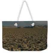A Volcano Rises Above A Dry Lake Bed Weekender Tote Bag