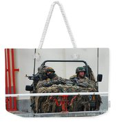 A Vw Iltis Recce Jeep On Guard Weekender Tote Bag